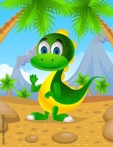 cute dinosaur cartoon - 33427595