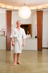 Man standing in Spa