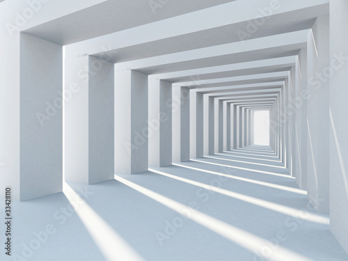 Fototapety, obrazy : Abstract interior architecture with row of plain columns