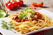 Leinwandbild Motiv Spaghetti bolognaise
