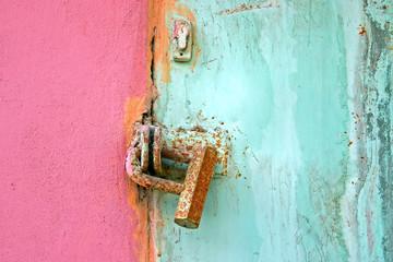 Old lock on the door