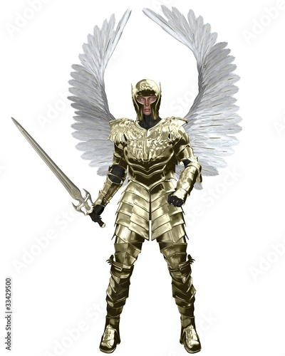 Archangel Michael in Golden Armour