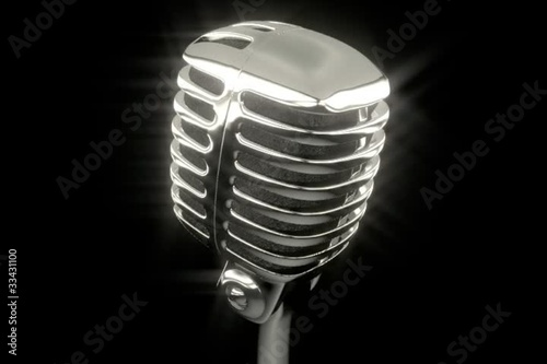 Vintage chrome microphone