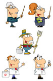 People Of Different Professions-Vector Collection 3. poster