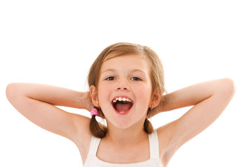 shouting little girl