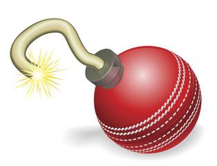 Cricket ball bomb concept
