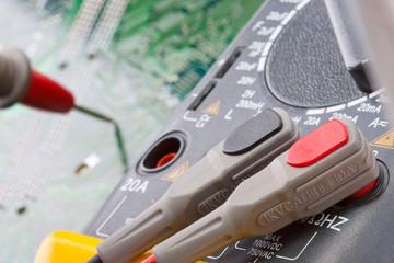 Close-up of digital multimeter