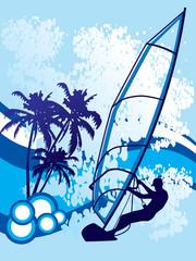 windsurf background vector