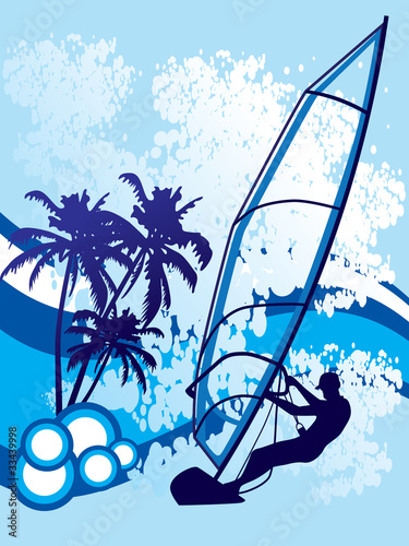 windsurf background vector