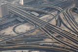 Aerial view of a highway junction in Dubai, UAE poster