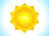 detailed solar plexus chakra poster