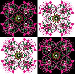 decorative background with flower
