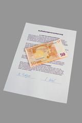 Aufhebungsvertrag und Geldscheine