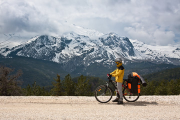 Exploring the world by bicycle.