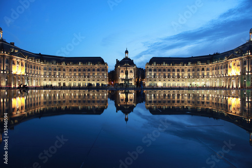 canvas print picture Bordeaux Place de la Bourse