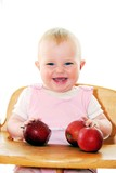 Happy Child with apples