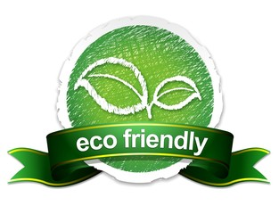 eco friendly sticker/banner