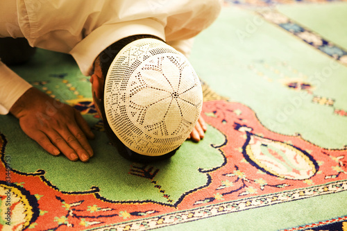 Praying people sajdah