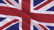 Flag of the United Kingdom waving in the wind