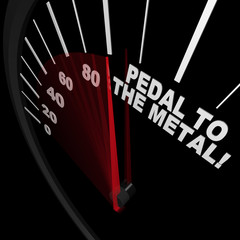 Speedometer - Pedal to the Metal Faster to Reach Goal