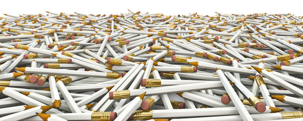 Plain of pencils