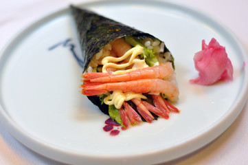 Japanese food - shrimp sushi