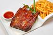 Western food - pork chops and fries