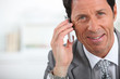 close-up businessman with phone
