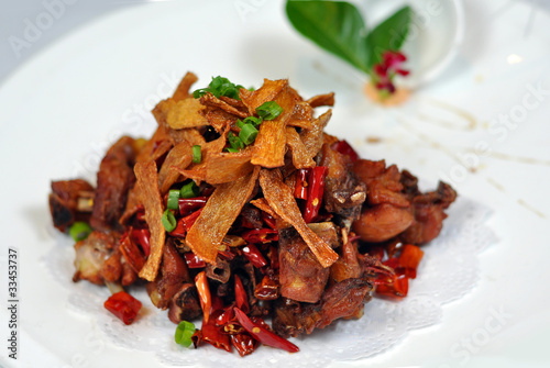 Chinese cuisine - pork tofu skin row