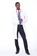 Studio full length shot of a doctor with white coat