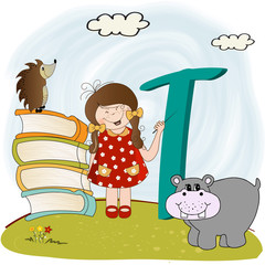 children alphabet letters ' t'