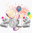 New Years 2012 Vector, Clip Art