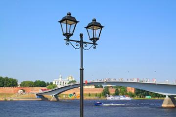 decorative torch on coast river