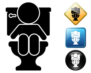 Baby in WC pictogram and signs