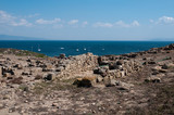 Sardinia, italy: view of Tharros' archaeological area