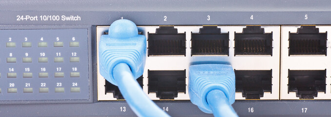 Network router with Ethernet Cables