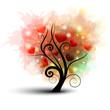 Albero astratto con cuori - Heart tree