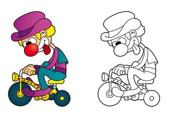 Clown à vélo
