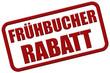 Stempel rot rel FRÜHBUCHER RABATT