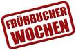 Stempel rot rel FRÜHBUCHER WOCHEN