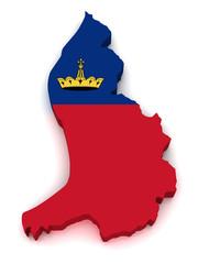 3D Map of Liechtenstein