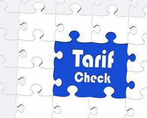 Tarif Check - Konzept Geld sparen