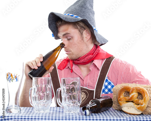 drunken bavarian man