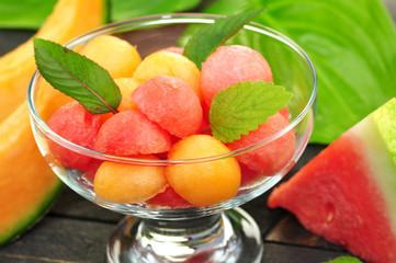 Wassermelone,Cantaloupemelone