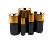 A render of a group of different batteries