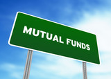 Mutual Funds Highway Sign poster