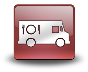 "Red 3D Effect Icon ""Food Truck"""