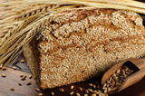 Close-up on traditional sesame bread