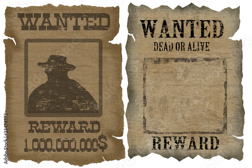 A old wanted posters