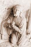 Stone statue Christ - religious symbo poster
